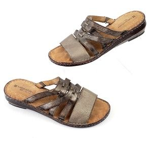 Naturalizer comfort wedge sandal Bronze-gold 10